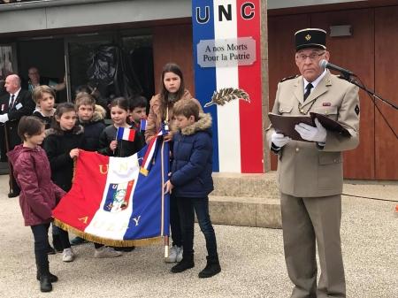 remise drapeau OPEX SOLDAT DE FRANCE  AUZAY 85